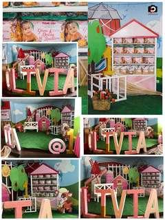 Olivia's Pretty In Pink Barnyard Themed Party