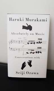 Absolutely on music by Haruki Murakami hardcover book