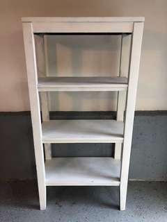 White wooden 5-layer shelf
