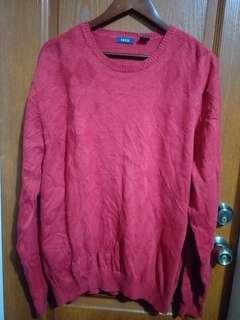 099 IZOD Maroon Cotton Knit Top XL