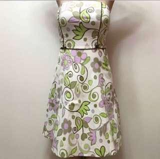 Tube floral dress