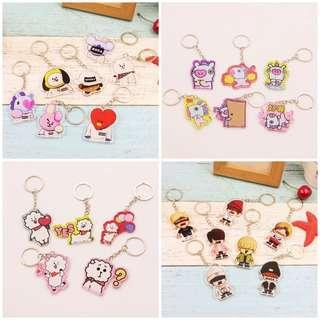 🚚 BTS Cute cartoon key chain