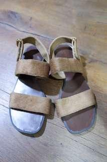 Charles&Keith Olive Green Sandals
