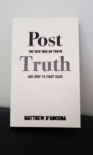 Post truth by Matthew D'Ancona book