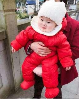 *INSTOCK* Baby Fleece Suit (Red)