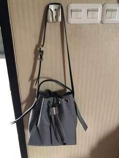 Zara buckle bag Gray Reprice