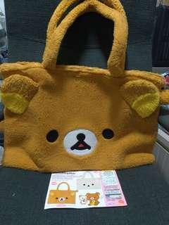 Authentic Rilakkuma Tote Bag Large Full Face Sanrio