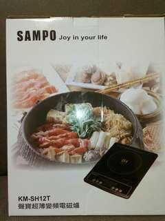 🚚 SAMPO超薄變頻電瓷爐