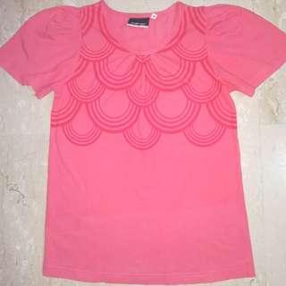 🚚 Salmon Pink RBK Top, Size M