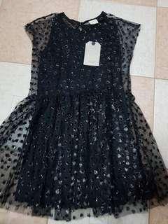 BNEW W/ TAGS ZARA KIDS BLACK DRESS (size 8Y)