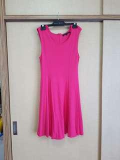 Fuschia Hot Pink Dress - French Connection(Size 10)