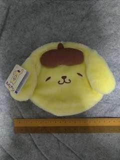 Authentic Pompompurin Soft Fur Zip Pouch Sanrio