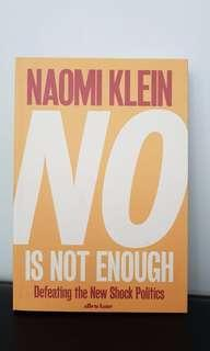 No is not enough by Naomi Klein book