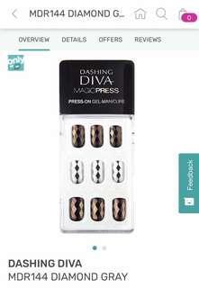 Dashing Diva 甲貼 MRD144 Diamond Gray