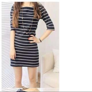 🚚 Grey Striped Pullover Dress