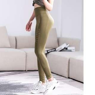 🚚 High Waist Moto Legging - Olive