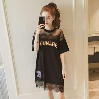Summer Lace Loose Dress
