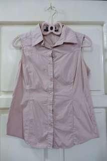Plain&Prints Pink Sleeveless Polo