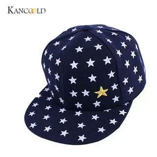 🚚 cap Casual hat fits boys and girls popular New Kids Baby Children Star Pattern Hip Hop Baseball Cap
