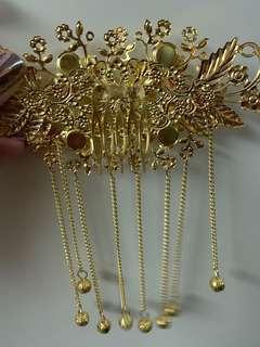 新娘中式頭飾一對