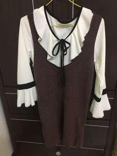 🚚 [二手]兩件式針織裙裝