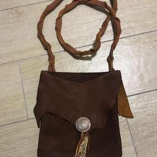 客製 手做 印第安藥袋 日本鹿皮 Native American medicine deer leather bag handmade