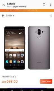 🚚 Huawei Mate 9(Metallic Grey)Warranty till Aug 2019