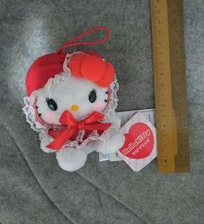 Authentic Hello Kitty Red Party Dress Plush Toy Sanrio