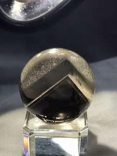 白幽靈水晶球 28mm #茶黃晶水晶球#幽靈金字塔水晶#幽靈千層山水晶#White Phantom Quartz