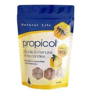 澳洲Natural Life 麥蘆卡蜂蜜蜂膠潤喉糖
