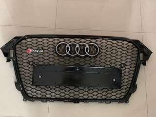 🚚 Audi RS4 B9 Full Black Front Grill