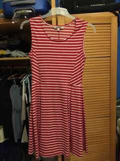 Red Stripes Mididress