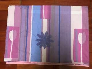 🚚 可愛 粉紫單人棉被套 #半價良品市集