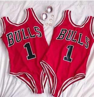 sexy and nice bulls one piece in color red once lang din nagamit