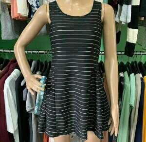 Stripe Dress tanpa lengan PL part2