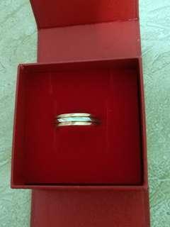 🚚 3色鑽石紋k戒