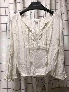 American eagle outfitters embroidered top