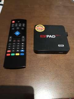 EVPad Pro+ with air remote