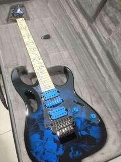 Ibanez JEM 77P Blue Floral Pattern Steve Vai Guitar