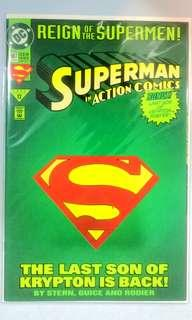DC Comic - Action Comics #687 Collectors Die-cut Cover