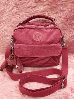 Kipling Candy Maroon Crossbody Backpack