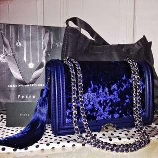Pedro Original Counter KL (Velvet Navy Bag with Tassel)