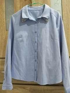 🚚 春裝專櫃造型領襯衫