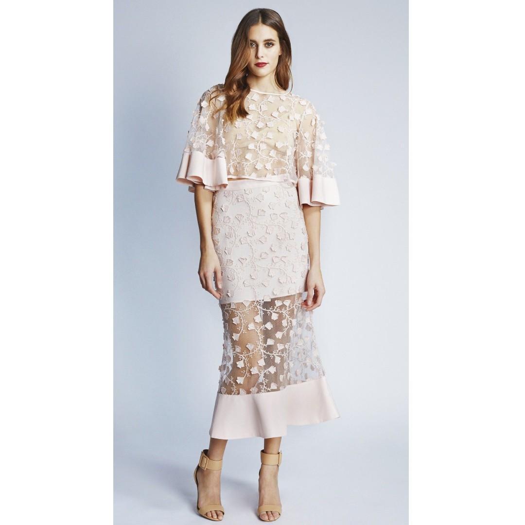 Alice Mccall A Little Soul Floral Applique Skirt Blush Size 6