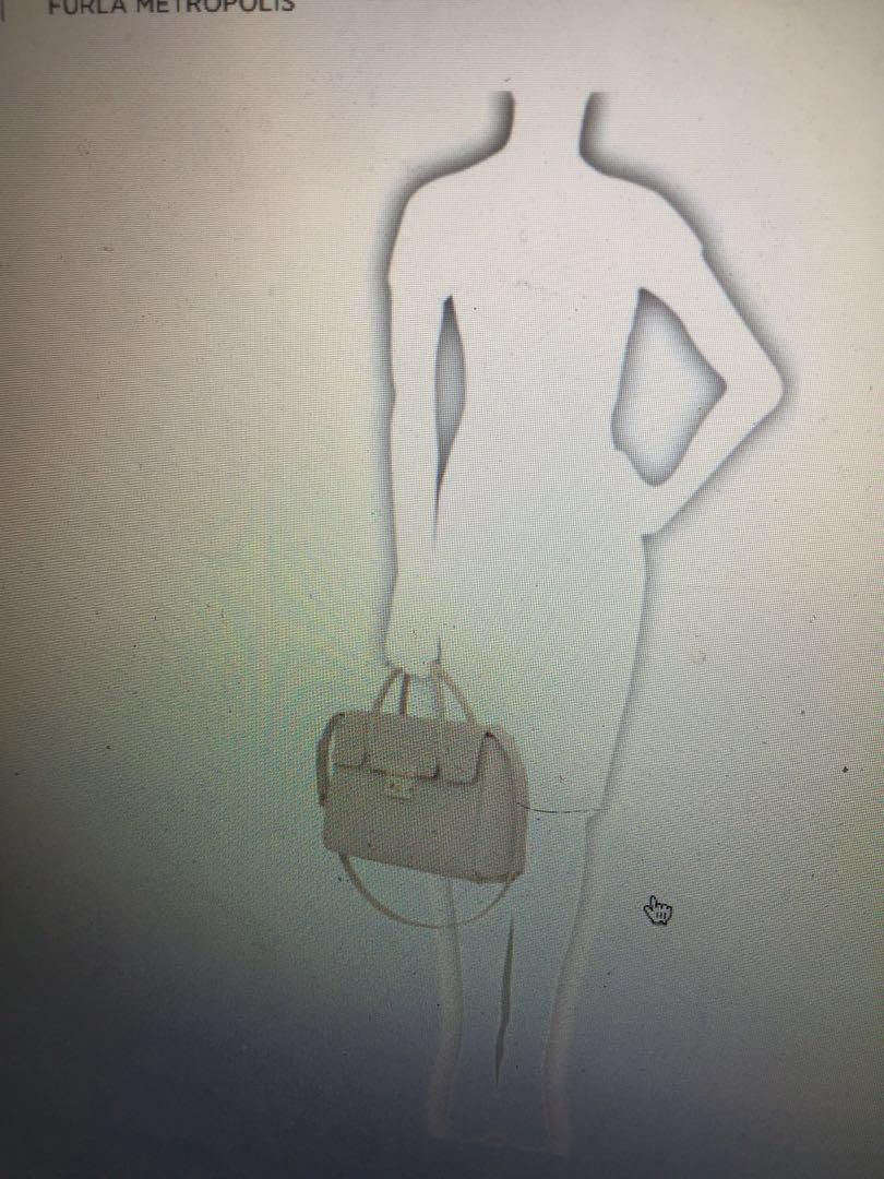 Authentic furla metropolis satchel M dalia in beige pink