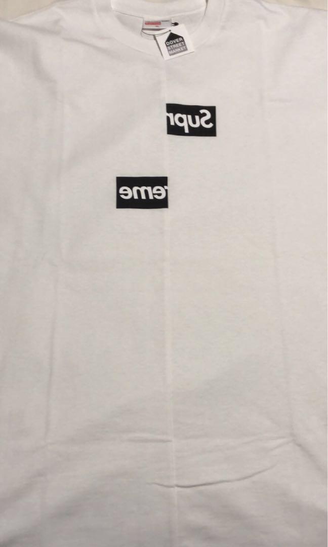 bc1ab3dd4940 BNDS XL Supreme x CDG Split Bogo Tee White, Men's Fashion, Clothes ...