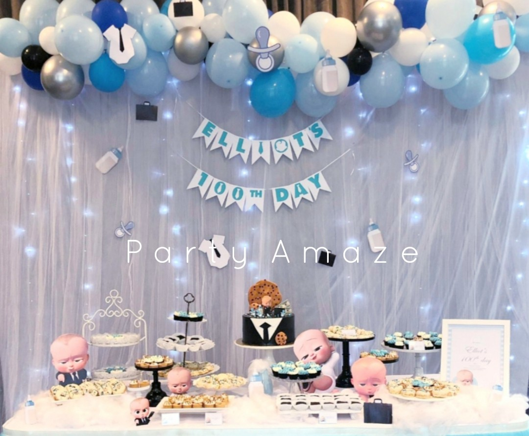 BOSS BABY👼👔 THEME Party Balloon Garland for Wedding/Birthday Party/Baby  Shower/Graduation/Corporate Celebration/Balloon Decoration