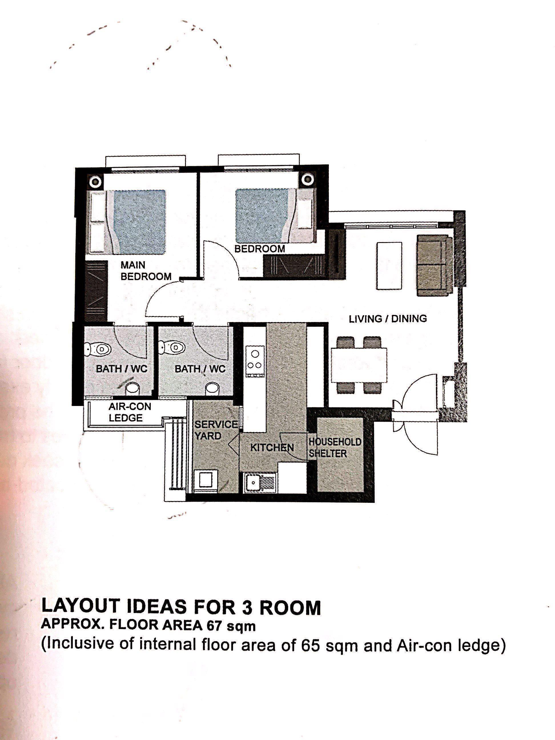 Brand New 3rooms Flat For Sales Eastbrook Canberra For Sales Property For Sale Hdb On Carousell