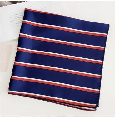 Brand new head, neck, bag scarf stripes blue red white