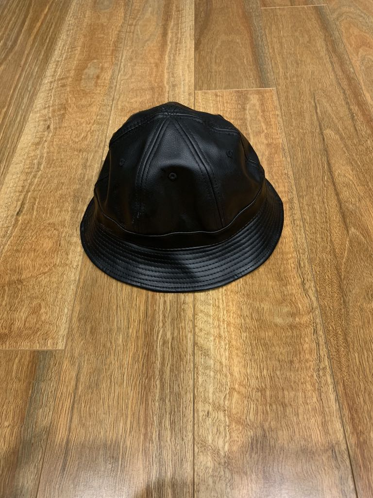 Carré Black PU Bucket Hat